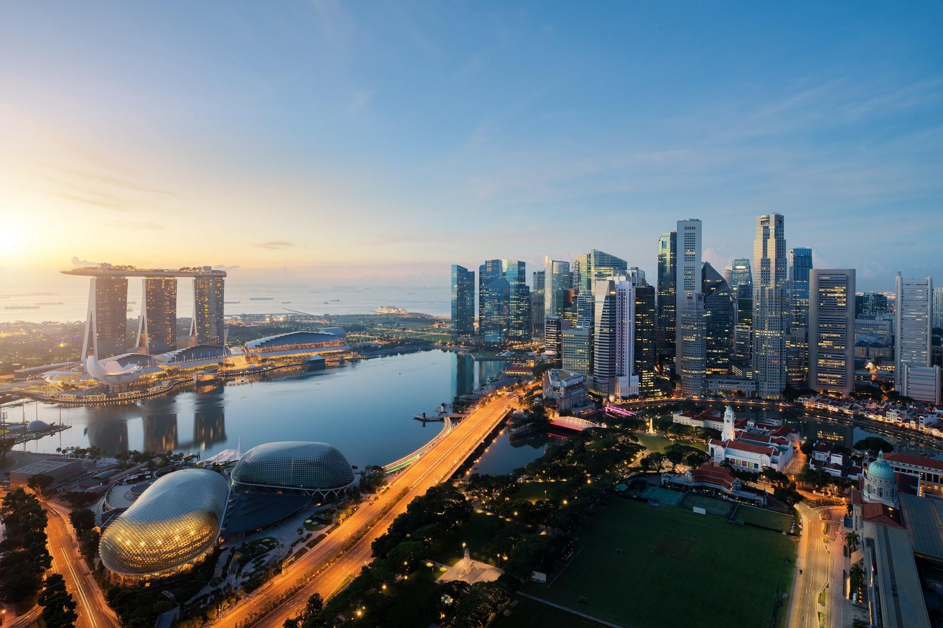 Singapore-Aerial-View